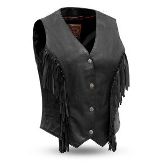 Apache – Women's Fringe Leather Vest