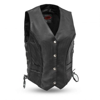 Trinity – Women's Leather Motorcycle Vest